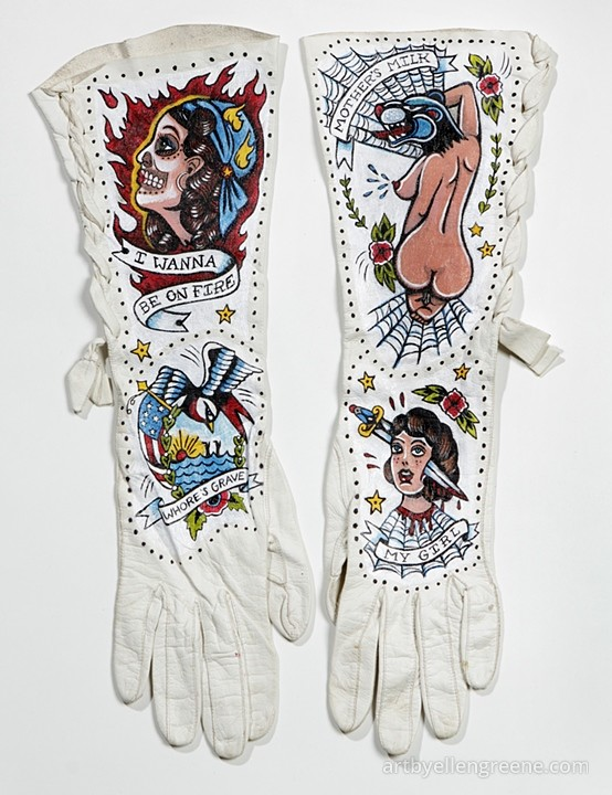 Tattooed Gloves by Ellen Greene
